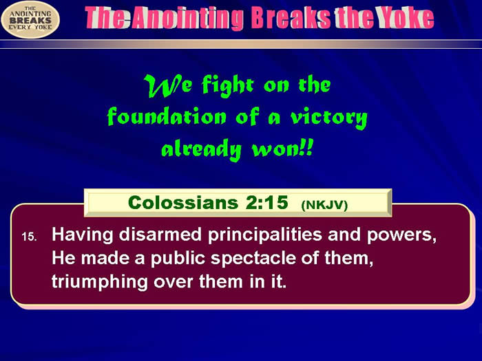 Victory already won by Christ